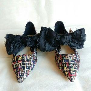 Zara WOMANS Tweed Flats